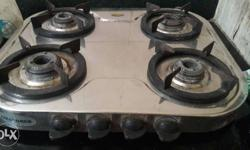 4 burner gas stove in good working condition