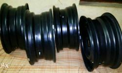 4 car wheel 10km used only, new condition 185/14, no