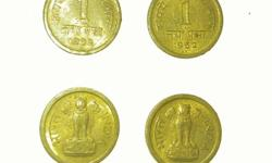 4 cpper 1paise coins 1962 year