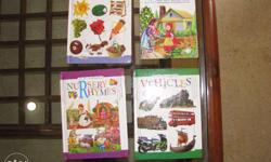 4 books for play school kids : hardcover , Large Print