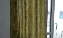 4 piece eyelet curtains. 1 door curtain and 3 window
