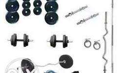 Silver And Black Barbell And Dumbbell