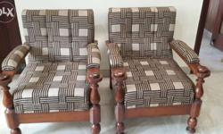 Very beautiful 5 seater sofa set with new dark brown