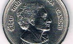 Rare indira ghandhi 5Rs coin for sale. if u like to