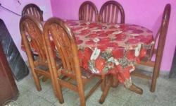 6 chairs dining table for sale.. well maintained...