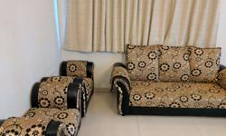 7 seater sofa set, 4 years old, maintained well, pet