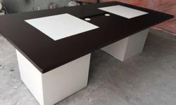 Exclusive designed conference tables in deco paint with