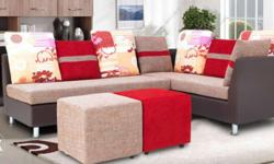 8 months used 3 + 2 seater leatherette Sofa set, still