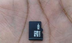 8GB sd card new hai one month old