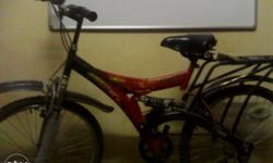 A hero bicycle 6 or 7 months old is in new condition