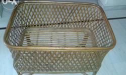 Baby cot made of cane. Ideal bed for small babies. In a