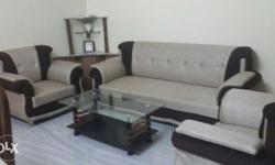 A luxurious sofa set 5 seater(3+2) jute material used