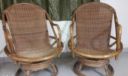 A pair fancy comfortable cane chair