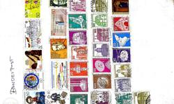 A rare collection of old stamps of different