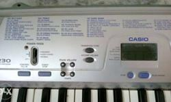 a CASIO keyboard in good condition, bought 2yrs back.