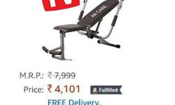Abdominal gym Exercise bench Amazon price rs. 4100 Mrp