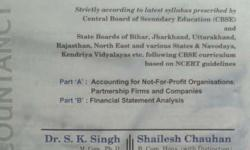 Its an S.k singh Accounts book for class 12th A new