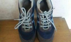 Action new Blue-and-gray sports shoes. Size no.5