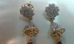 A.D. Latkan Earings with Red Manak
