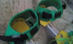 These are green- yellow skates that are able to change