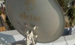 Airtel HD DTH, with antenna , set top box, remote.