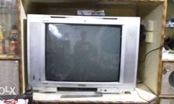 Gray CRT Television