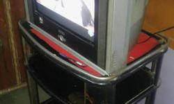 Akai Big Tv with trolley in fine condition