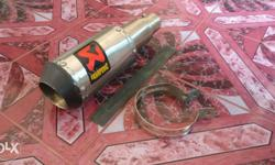 Akrapovic free flow exhaust system with custom made