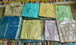 All sizes cotton shirts 95%cotton 5percnt polyster. .
