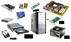 All types of computer parts , including ram, dvd drive,