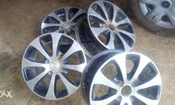 14'' 4 Nos. used Alloy Wheels for sale. used our Swift