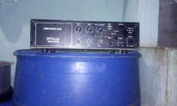 I want to sell my amplifier with 2 sound boxes, it is