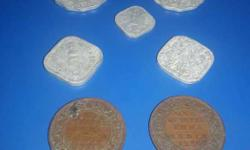 antique coins of one quater Anna about 97 years old and