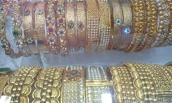 Antique gold plated on copper . bangles available in