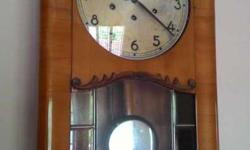 8 prong antique mauthe wall clock, German made, at