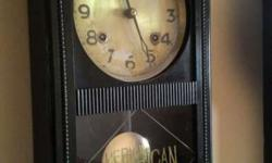 75 year old antique kroff American wall clock, fully