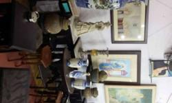 antique small side stools ..stands ..big corner