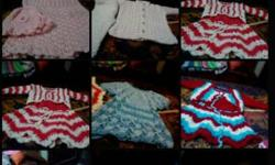 Any one baby handmade wollen crochet set