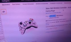 Arctic Camouflage Xbox 360 Wireless Controller