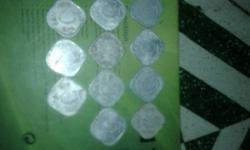 Assorted 5 Indian Paise Coins