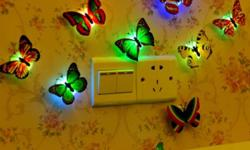Assorted Color LED Lighted Butterflies