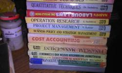 Assorted Textbooks of MBA each costing minimum 200 to