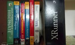 Assorted programming books including Java, . Net,