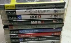 Assorted Sony PS3 Game Case Collection