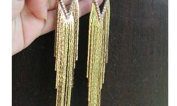 These r new and beautiful party wear tassel earings of