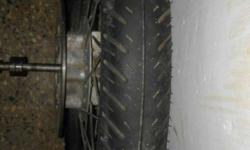 Avenger tyre with rim n disc plate for sale... Good