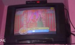B.P.L 22 inch t.v with tata sky setup box