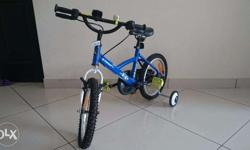 B'TWIN 16inch blue color kid's bicycle with supporting