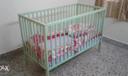 Baby cot from mom & me. Baby cot and baby bed. With
