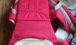Baby's Pink And White Carrier new,one time use..price